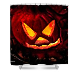 Jack-o-lantern Shower Curtain by Christopher Holmes