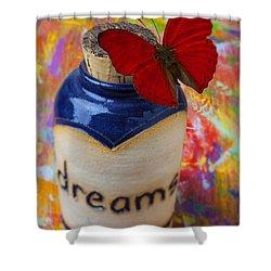 Jar Of Dreams Shower Curtain by Garry Gay