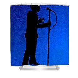 Jazz Singer Shower Curtain by Julie Brugh Riffey