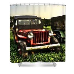 Jeep Seen Better Days Shower Curtain by Dan Friend