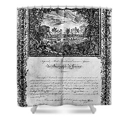 Jefferson: Degree, 1820 Shower Curtain by Granger