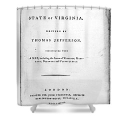 Jefferson: Title Page, 1787 Shower Curtain by Granger