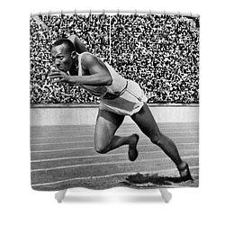 Jesse Owens (1913-1980) Shower Curtain by Granger