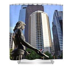 Jesus Of Philadelphia Shower Curtain by Bill Cannon