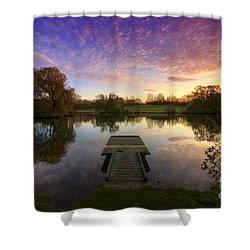 Jetty Sunrise 4.0 Shower Curtain by Yhun Suarez