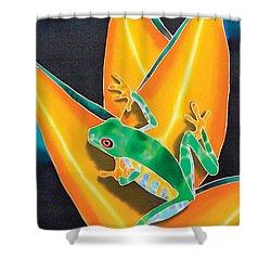 Joe's Treefrog Shower Curtain by Daniel Jean-Baptiste