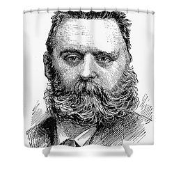 Johann Joseph Most Shower Curtain by Granger