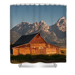 John And Bartha Moulton Barn Shower Curtain by Stuart Wilson and Photo Researchers