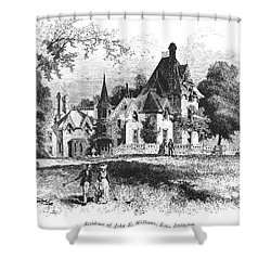 John E. Williams Residence Shower Curtain by Granger