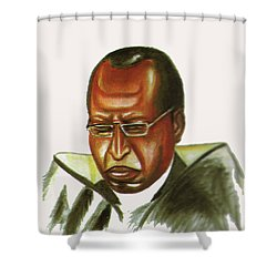 John Gatu Shower Curtain by Emmanuel Baliyanga