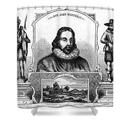 John Winthrop, English Puritan Lawyer Shower Curtain by Photo Researchers