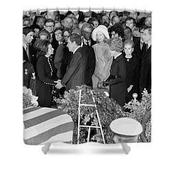 Johnson Funeral, 1973 Shower Curtain by Granger