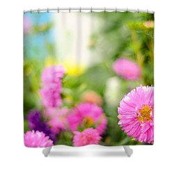Joy Of Summer Time Shower Curtain by Jenny Rainbow