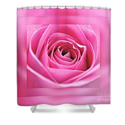 Just Pink Shower Curtain by Kaye Menner