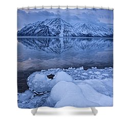 Kathleen Lake, Kluane National Park Shower Curtain by Robert Postma