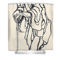 Katsushika Hokusai Shower Curtain by Granger