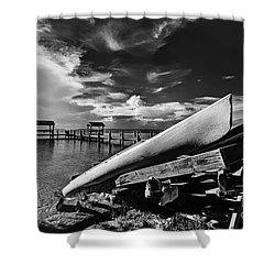 Kayaks Bw Shower Curtain by Bruce Bain