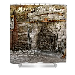 Keep Christmas Merry Shower Curtain by Michael Peychich