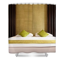 King Size Bed Shower Curtain by Atiketta Sangasaeng