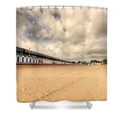 Kinlet Hall At Goodrington Sands Shower Curtain by Rob Hawkins