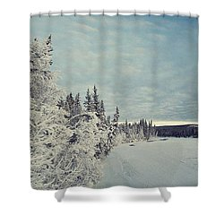 Klondikeriver Shower Curtain by Priska Wettstein