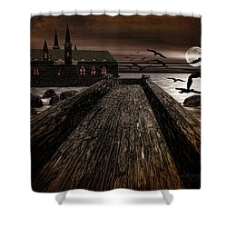 Knight's View Shower Curtain by Lourry Legarde