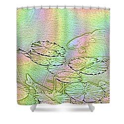 Koi Rainbow Shower Curtain by Tim Allen