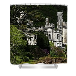 Kylemore Abbey, Connemara, County Shower Curtain by Peter Zoeller