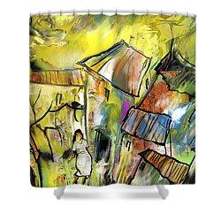La Provence 27 Shower Curtain by Miki De Goodaboom