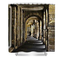 La Rochelle Sidewalk D1161 Shower Curtain by Wes and Dotty Weber