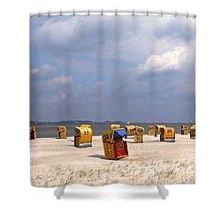 Laboe Beach ... Shower Curtain by Juergen Weiss