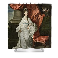 Lady Grant - Wife Of Sir James Grant Shower Curtain by Johann Zoffany