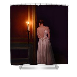 Lady In Candle Light Shower Curtain by Jill Battaglia