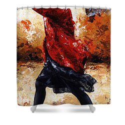 Lady In Red 28 Shower Curtain by Emerico Imre Toth