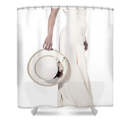 Lady With A Hat Shower Curtain by Joana Kruse