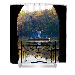 Lake Angel Shower Curtain by Bill Cannon