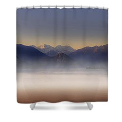 Lake Maggiore And Alps Shower Curtain by Joana Kruse