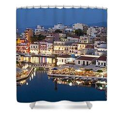 Lake Vouismeni Agios Nikolaos, Crete Shower Curtain by Axiom Photographic