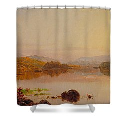 Lake Wawayanda Shower Curtain by Jasper Francis Cropsey