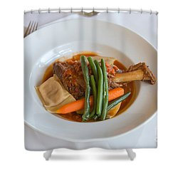 Lamb Shank Shower Curtain by Louise Heusinkveld