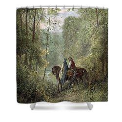 Lancelot & Guinevere Shower Curtain by Granger