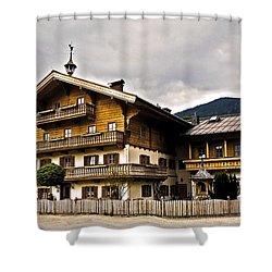 Landhaus Hofermuehle - Maria Alm  Shower Curtain by Juergen Weiss