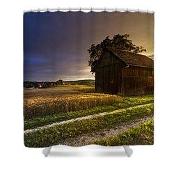 Last Sigh Shower Curtain by Debra and Dave Vanderlaan