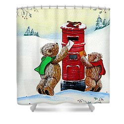 Late Post Shower Curtain by Gordon Lavender