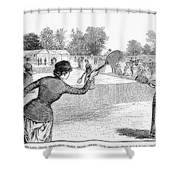 Lawn Tennis, 1883 Shower Curtain by Granger