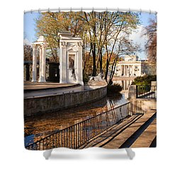 Lazienki Park In Warsaw Shower Curtain by Artur Bogacki