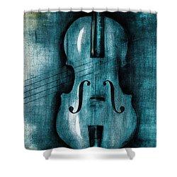 Le Violon Bleu Shower Curtain by Hakon Soreide