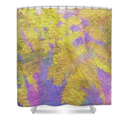 Leaves . . . Trees And Books Shower Curtain by Judi Bagwell