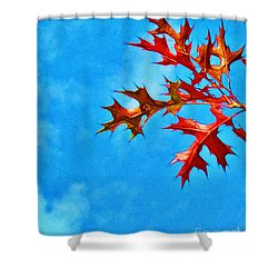 Leaves Against The Sky Shower Curtain by Judi Bagwell