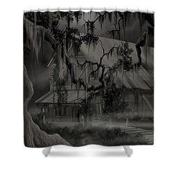 Legend Of The Old House In The Swamp Shower Curtain by James Christopher Hill